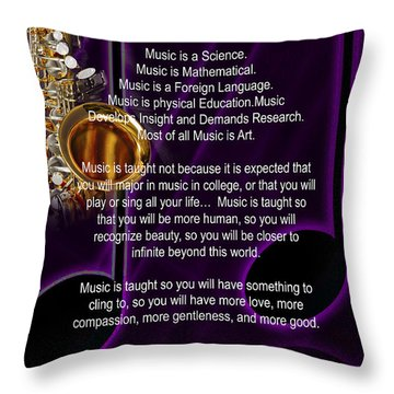 Saxophone Photograph Why Music For T-shirts Posters 4819.02 Throw Pillow