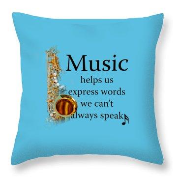 Saxophones Express Words Throw Pillow