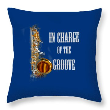 Saxophones In Charge Of The Groove 5531.02 Throw Pillow