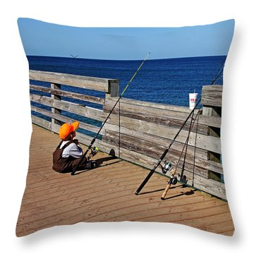 Say A Little Prayer Throw Pillow by Debbie Oppermann