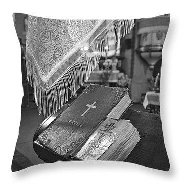 Say A Little Prayer Throw Pillow