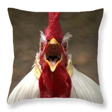 Say Ahh Throw Pillow