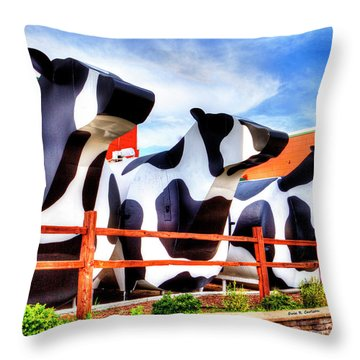 Say Cheese Throw Pillow by Dale R Carlson