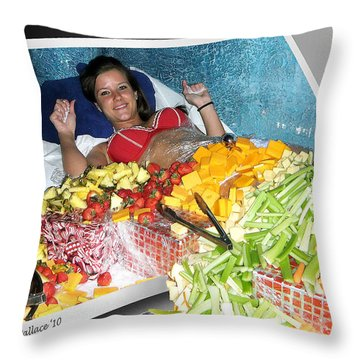 Say Cheese Throw Pillow by Brian Wallace