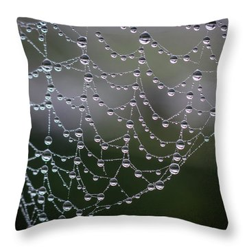 Say It With Pearls Throw Pillow