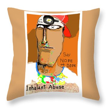 Throw Pillow featuring the photograph Say Nope To Dope by Joe Jake Pratt