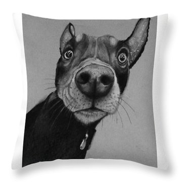 Say What?  Throw Pillow by Jean Cormier