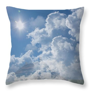 Sayers Homestead In The Clouds Throw Pillow