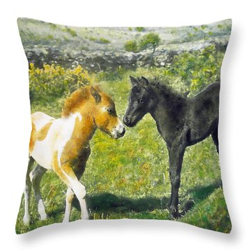 Saying Hello Throw Pillow by Richard James Digance