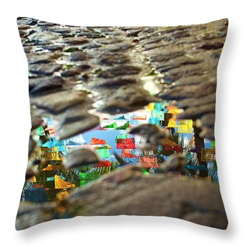 Throw Pillow featuring the photograph Sayu Flags by Nik West