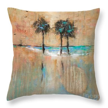 Sb Park Throw Pillow by Linda Olsen