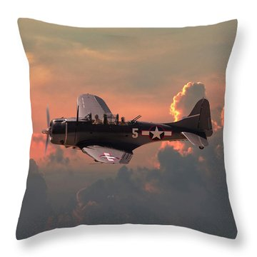 Sbd - Dauntless Throw Pillow