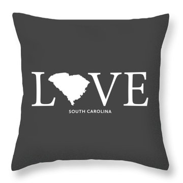 Throw Pillow featuring the mixed media Sc Love by Nancy Ingersoll