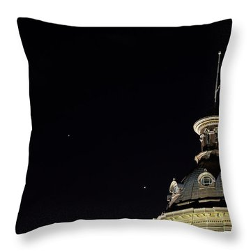 Sc State House Dome And Conjunction Throw Pillow