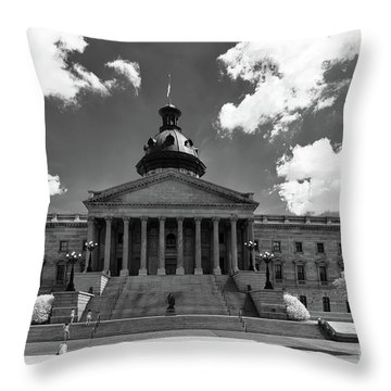 Sc State House - Ir Throw Pillow