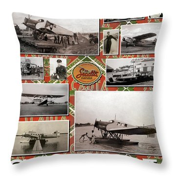 Scadta Airline Poster Throw Pillow