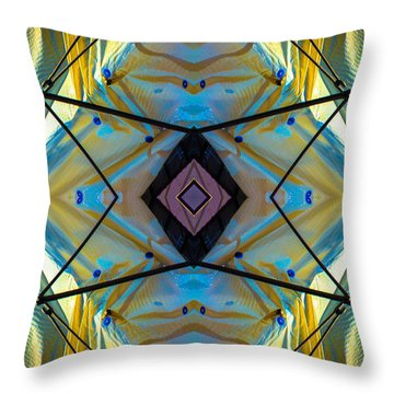 Scaffolding 5275 N69v2 Throw Pillow by Raymond Kunst
