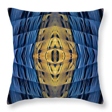 Scaffolding And Tarp 7676 N70v2 Throw Pillow by Raymond Kunst
