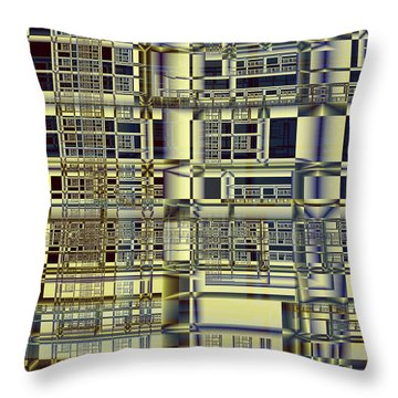 Throw Pillow featuring the digital art Scaffolds by Richard Ortolano