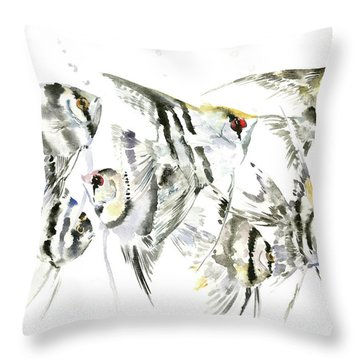 Animals And Feng Shui Art Throw Pillows