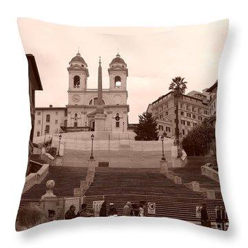 Scalinata Throw Pillow