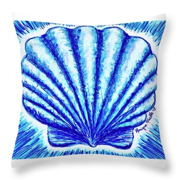Throw Pillow featuring the painting Scallop by Monique Faella