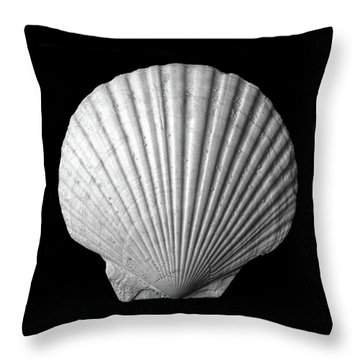 Scallop  Seashell Throw Pillow