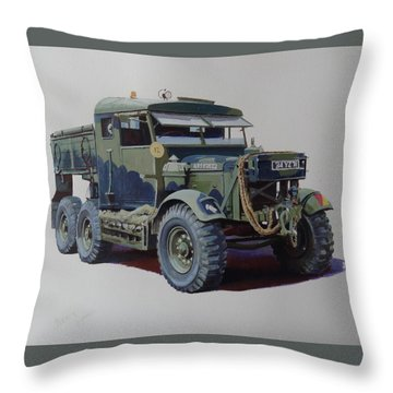 Scammell Pioneer Wrecker. Throw Pillow by Mike  Jeffries