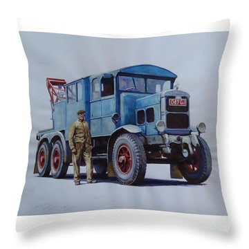 Scammell Wrecker. Throw Pillow by Mike Jeffries