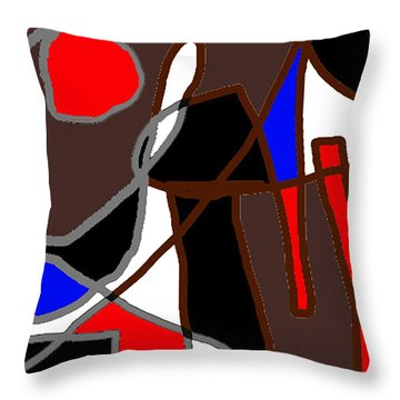 Scandal In Bohemia Original Abstract Expressionism Art Painting Throw Pillow by RjFxx at beautifullart com