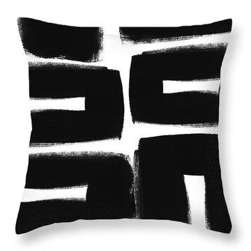 Scandi Boxes 2- Art By Linda Woods Throw Pillow