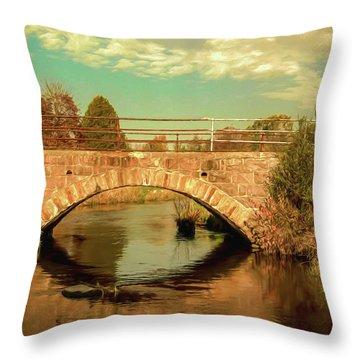 Scandinavia Stone Bridge 1 Throw Pillow by Trey Foerster