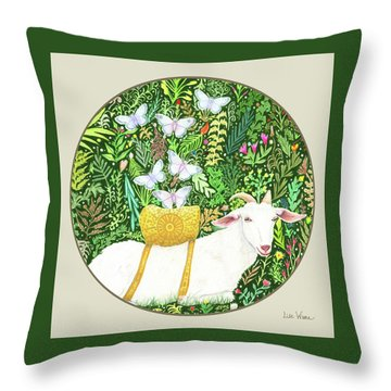 Scapegoat Button Throw Pillow