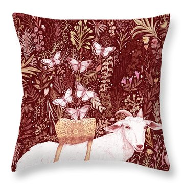 Scapegoat Healing Tapestry Print Throw Pillow