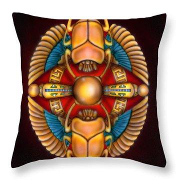 Scarab Beetle Design Throw Pillow