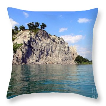 Scarborough Bluffs-lake View Throw Pillow by Susan  Dimitrakopoulos