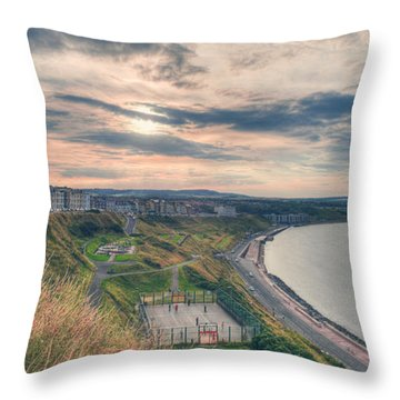Throw Pillow featuring the photograph Scarborough North Bay by Ray Devlin