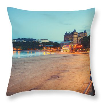 Throw Pillow featuring the photograph Scarborough Seaside by Ray Devlin