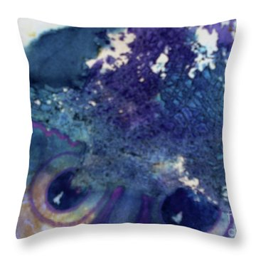 Throw Pillow featuring the painting Scarecrow Eyes by Kathy Braud