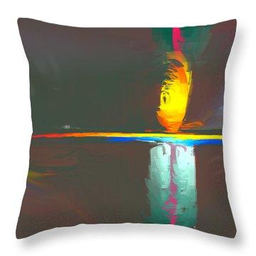 Scarecrow Throw Pillow by John Krakora