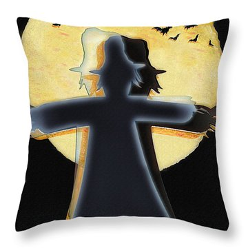 Scarecrow - Longing To Fly Throw Pillow