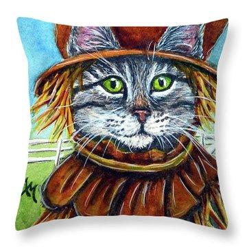 Scarecrow Tabby Throw Pillow