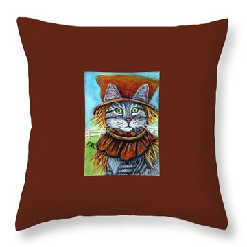 Scarecrow Tabby Throw Pillow