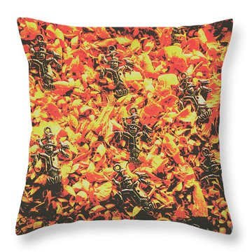 Scarecrows From Fires Burn  Throw Pillow