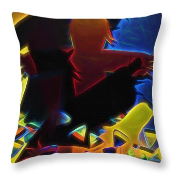 Scarecrows In The Cornfield Throw Pillow