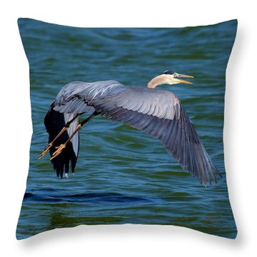 Throw Pillow featuring the photograph Scared Him And Scared Me by Bob Wall