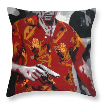 Scarface 2013 Throw Pillow by Luis Ludzska