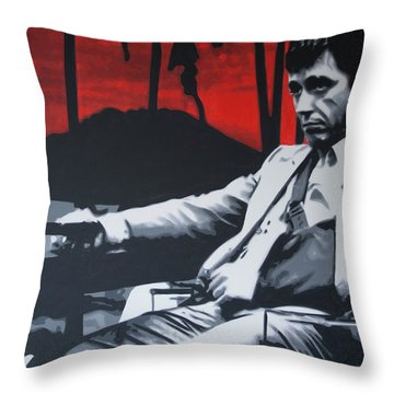 Scarface - Sunset 2013 Throw Pillow by Luis Ludzska
