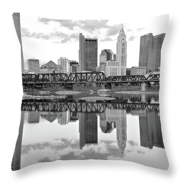 Throw Pillow featuring the photograph Scarlet And Columbus Gray by Frozen in Time Fine Art Photography
