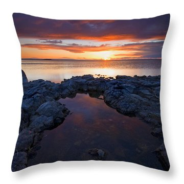 Scarlet Pools Throw Pillow by Mike  Dawson